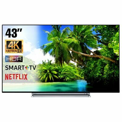 SMART TV 4K 43 Pollici Televisore Ultra HD Toshiba 43V6763DA HDR Cinema Dolby