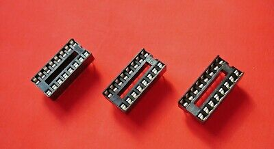 16 Pin Dil / Dip Low Profile Ic Socket (3 Pieces Supplied)