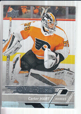 18/19 Ud Overtime Wave 3 Carter Hart Rc Rookie #180