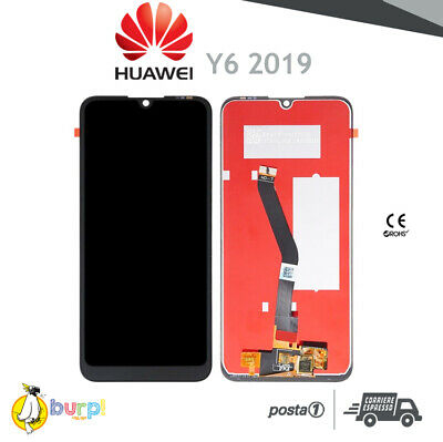 Display Lcd Touch Screen Vetro Huawei Y6 2019 Nero Mrd-Lx1 Lx2 Honor 8A Schermo