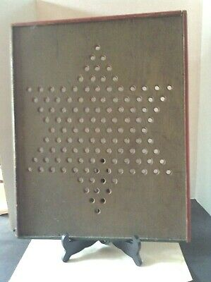 Antique Folk Art Chinese Checkers Game Board Hand Made