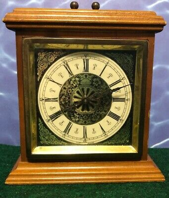 Vintage Forestville mantle Clock wooden and Brass Antique Clock made in Germany