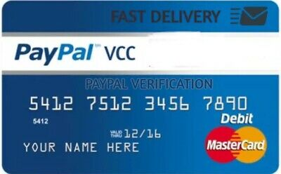 VCC For PayPal Verification Virtual Credit Card - Fast Delivery(works Worldwide)