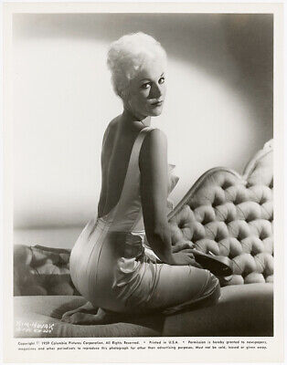 Icy Blonde Femme Fatale Kim Novak Vintage 1959 Pin-Up Glamour Girl Photograph