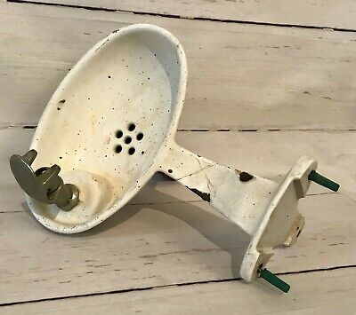 Antique Haws Drinking Fountain Water Cooler Cast Iron Enamel Bowl and Hardware