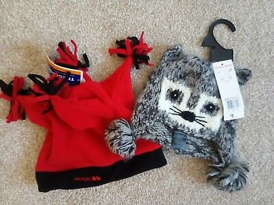 BNWT Kids Boys Girls Unisex winter hats set 2-4 years Trespass, F&F