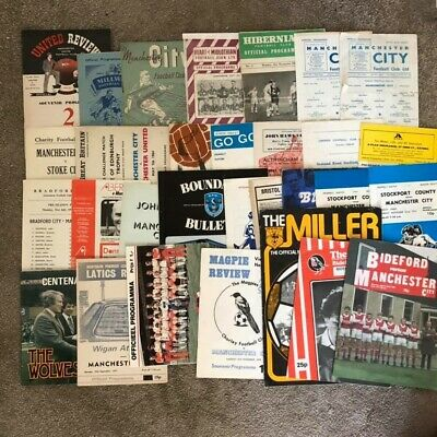 Huge Collection Manchester City Programmes Pre-Season/Tournaments/Testimonials