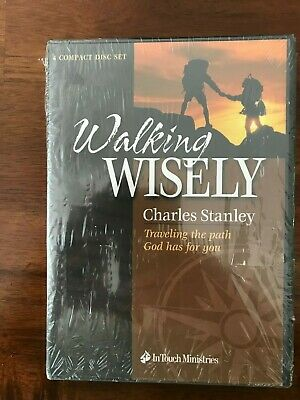 Charles Stanley WALKING WISELY Traveling the Path God Has for You 4 CD Set NEW