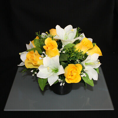 Artificial/Silk Flower Memorial Vase Grave Pot/Insert Cemetery/Crematorium