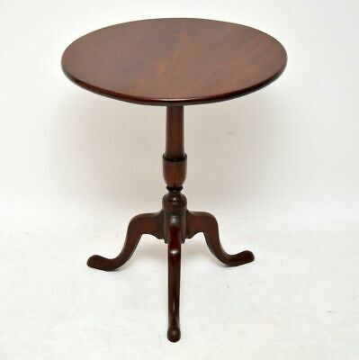 Antique Georgian Mahogany Tilt Top Tripod Table