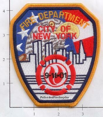 New York City Fire Dept Gone Shoulder Patch RWB with Black Date Patch 9-11 WTC