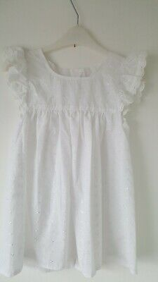 Vintage broderie anglaise  baby Pinafore Handmade