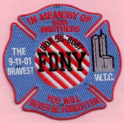New York City Fire Dept In Memory of Our Fallen Brothers Patch 9-11 WTC