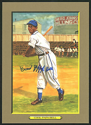 James Cool Papa Bell Autographed Signed Perez-Steele Postcard #51 Beckett E46601