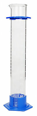 Glass Graduated Cylinder With Plastic Hex Base and Bumper Guard, 250ml