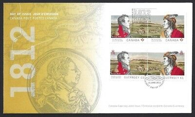 Canada  # 2554 - 2555    Joint War of 1812 Issue    New 2012 Unaddressed