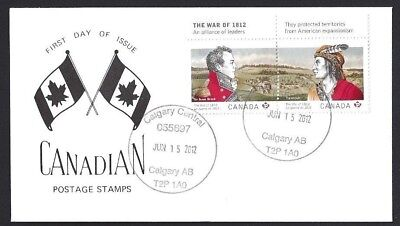 Canada  # 2554 - 2555   WAR OF 1812 SPECIAL EVENT CACHET   New 2012 Unaddressed
