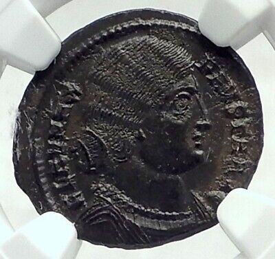 FAUSTA mom to Constantine II and Constantius II Ancient Roman Coin NGC i79645