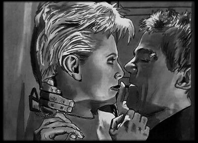 ACEO Carbon ink Graphite sketch card  stargate   Samantha Carter Jack O'Neill