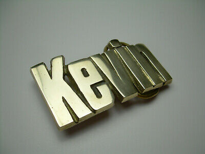 Kevin Vintage Solid Brass Name Cut Out Belt Buckle from the 70's