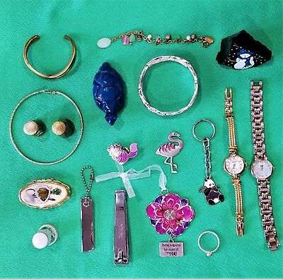 Large Mixed Lot Of Jewelry & Junk Drawer Miscellaneous Items From Estate Sales