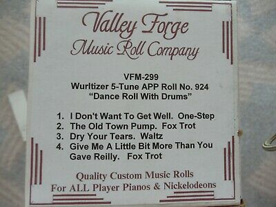 Wurlitzer 5 tune APP Roll (41)  dance roll with drums