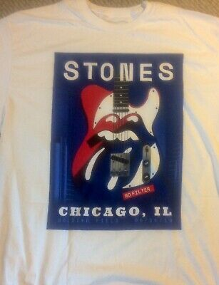 Rolling Stones Official Xl Size Tshirt Chicago Night 2 Shirt 6/25 Soldier Field