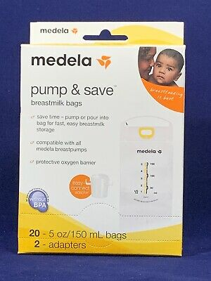 Medela Breast Milk Storage Bags, Pump and Save Breastmilk Bags with Easy Conn...