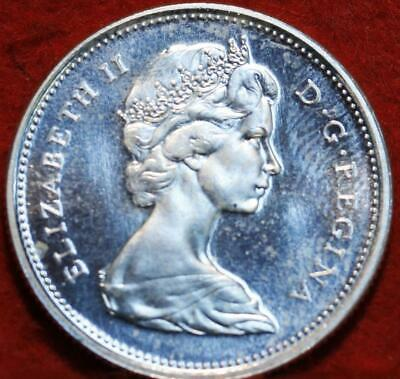 Uncirculated 1967 Canada 25 Cents Silver Foreign Coin
