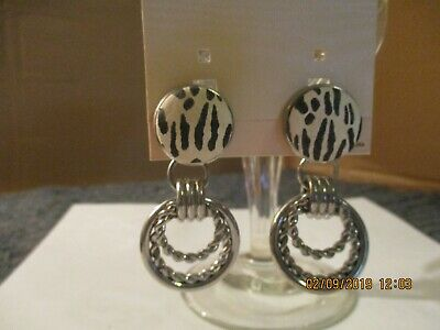 Earrings Liz Soto JCPenny's Fashion Jewelry Rubber Back Clip Vintage Collectible