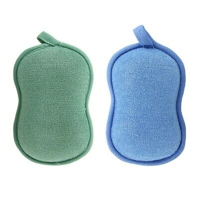 1X(BabaMate Natural Bamboo Baby Bath Sponge-2 Pack-Ultra Soft & Absorbent SM4F1)