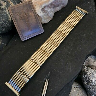 rare 1955 10k Yellow Gold-Filled Speidel USA Short nos Vintage Watch Band
