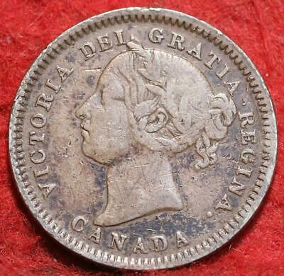1881 Canada 10 Cents Silver Foreign Coin