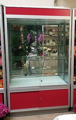 15 x Glass display cabinets with lights/ Hobby cabinets $250 each