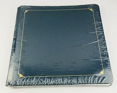 Creative Memories 12x12 Blue Album Gold Accents with 15 White Scrapbook Pages