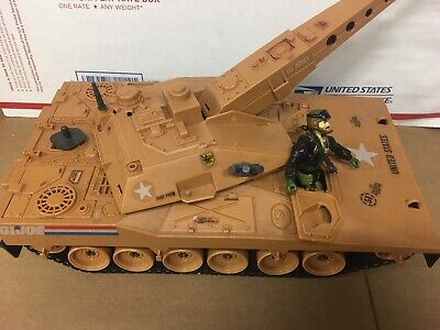 GI Joe ARAH Mauler Tank Incomplete, Heavy Metal With Gun And Vintage Microphone