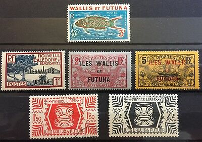 Wallis & Futuna High Value stamps - MLH & used