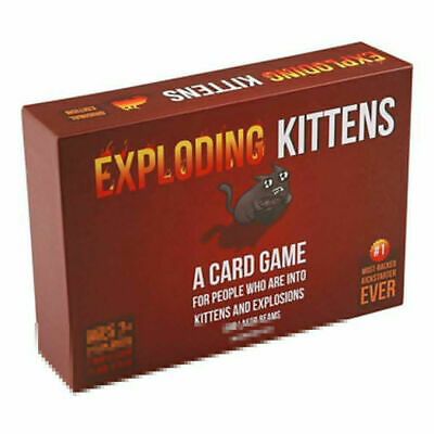Exploding Kittens Card Game Cats Family Party Strategy Game for Kids Beginner