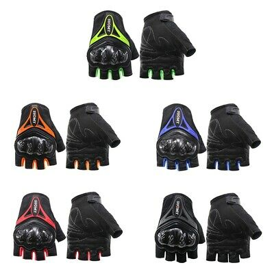 Hard Knuckle Half-Finger Gloves Motorcycle Paintball Tactical Fingerless Cycling