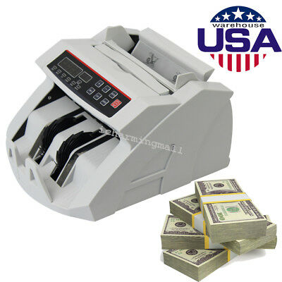 Bill Money Currency Counting Machine Counterfeit Detector Checker UV/MG USA CE