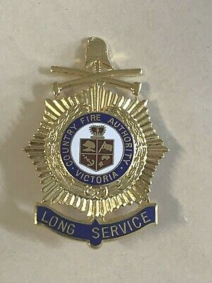 Obsolete CFA Country Fire Authority Victoria Long Service Enamel Badge