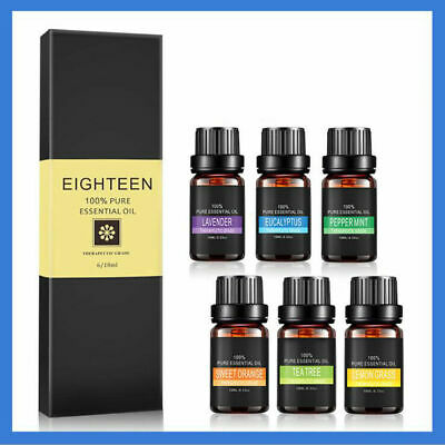 Essential Oil Gift Set Sampler Kit 6 - 10ml 100% Pure Therapeutic Grade Bulk Lot