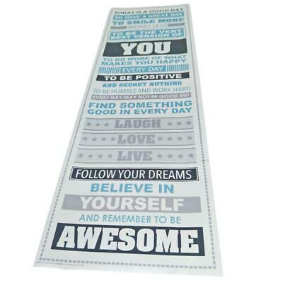 1X(Be Awesome Inspirational Motivational Happiness Quotes Decorative Poster M7Z6