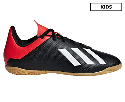 Adidas Boys' X 18.4 Indoor Soccer Shoe - Black/Red/White