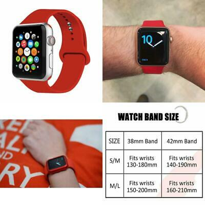 38mm 42mm 44mm Sports Strap Soft Silicone Replacement Band for 2018 Watch Series