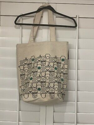 Starbucks Anywhere Tote Bag Authentic Canvas Book Gift Bag Coffee Cafe Beach