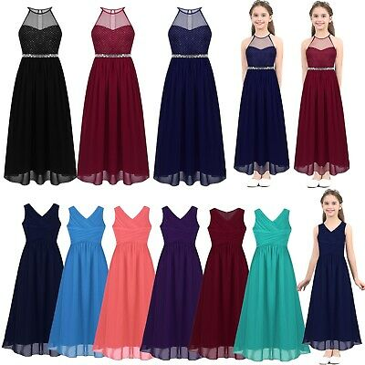 Flower Girl Dress Formal Party Pageant Wedding Bridesmaid Long Maxi Prom Dresses