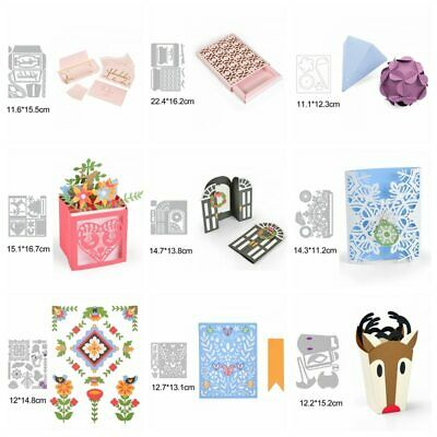 3D BOX Metal Cutting Dies Stencils for DIY Scrapbooking Paper Cards Crafts