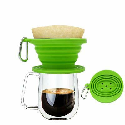 Wolecok Silicone Collapsible Coffee Filter, Camping Coffee Dripper Cone, Pour Ov
