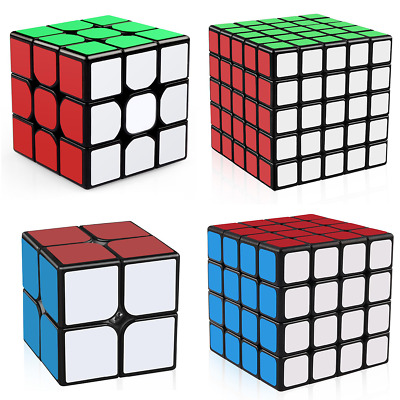 Magic Cube 2x2x2 3x3x3 4x4x4 5x5x5 Super Smooth Speed Fast Rubix Rubiks Puzzle